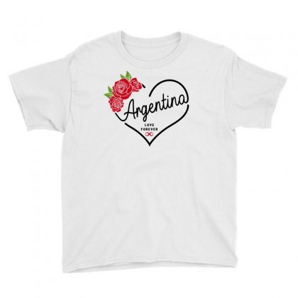 Argentina Love Forever Youth Tee Designed By Honeysuckle