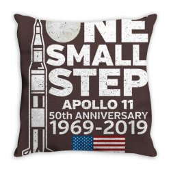 astronaut moon landing 50th Throw Pillow | Artistshot