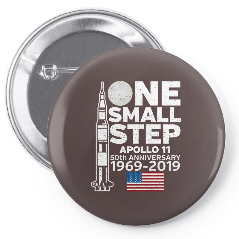 Astronaut Moon Landing 50th Pin-back Button | Artistshot