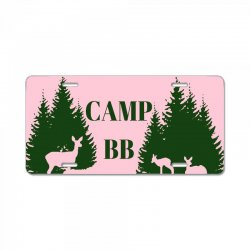 camp bb License Plate | Artistshot
