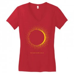 come the sun solar eclipse Women's V-Neck T-Shirt | Artistshot
