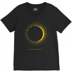 come the sun solar eclipse V-Neck Tee | Artistshot