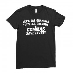 commas save lives Ladies Fitted T-Shirt | Artistshot