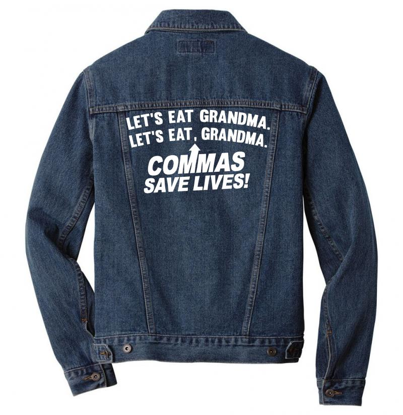 Commas Save Lives Men Denim Jacket | Artistshot