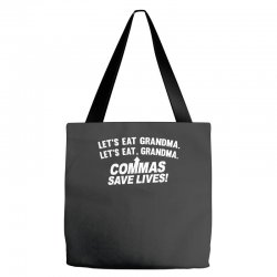 commas save lives Tote Bags | Artistshot