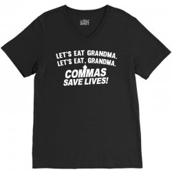 commas save lives V-Neck Tee | Artistshot