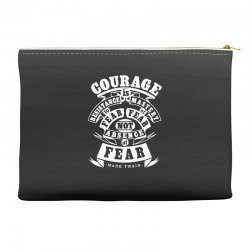 courage is fear resistance Accessory Pouches | Artistshot