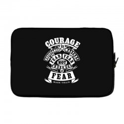 courage is fear resistance Laptop sleeve | Artistshot