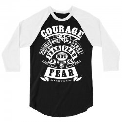 courage is fear resistance 3/4 Sleeve Shirt | Artistshot