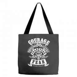 courage is fear resistance Tote Bags | Artistshot