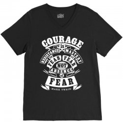 courage is fear resistance V-Neck Tee | Artistshot