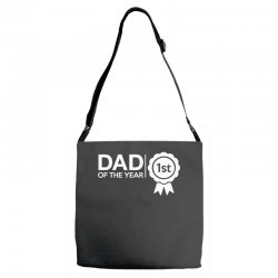 dad of the year Adjustable Strap Totes | Artistshot