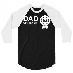 dad of the year 3/4 Sleeve Shirt | Artistshot