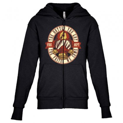 The Hotter You Got The Faster We Come Youth Zipper Hoodie Designed By Emardesign