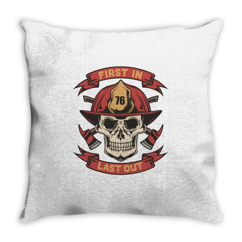 First In Last Out Throw Pillow | Artistshot