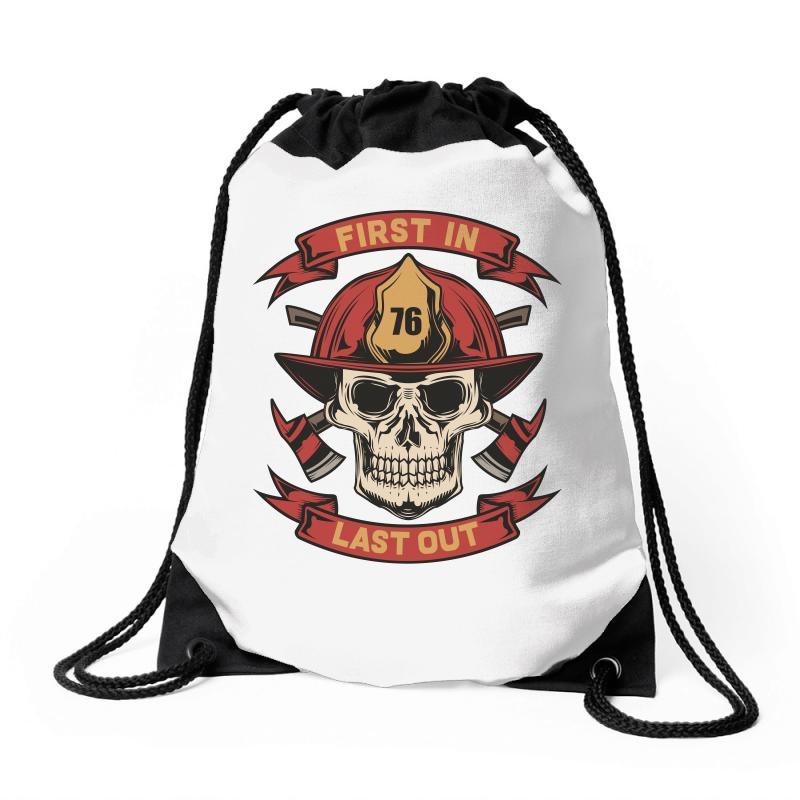 First In Last Out Drawstring Bags | Artistshot