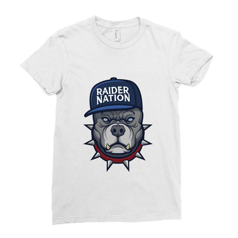 Beware Of The Raider Nation Ladies Fitted T-shirt | Artistshot