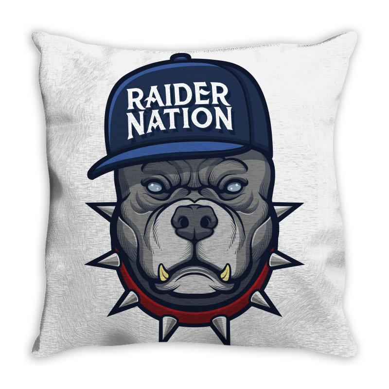 Beware Of The Raider Nation Throw Pillow | Artistshot