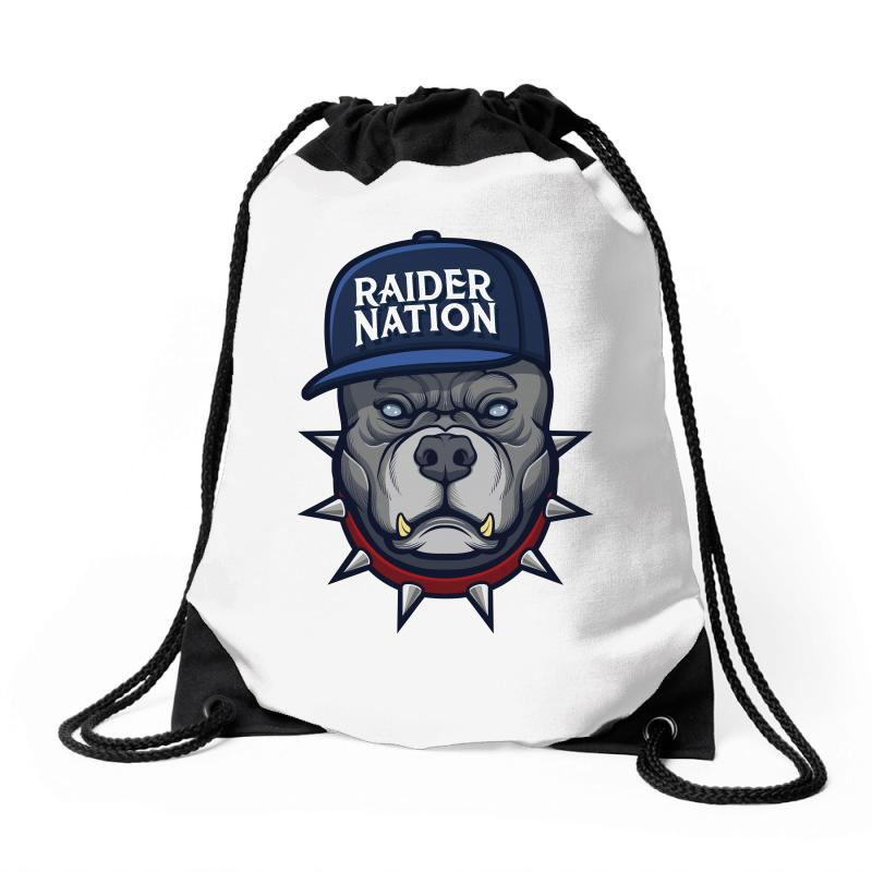 Beware Of The Raider Nation Drawstring Bags | Artistshot