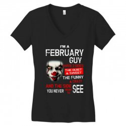 I'm a February guy I have 3 sides Pennywise Women's V-Neck T-Shirt | Artistshot