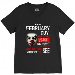 I'm a February guy I have 3 sides Pennywise V-Neck Tee | Artistshot