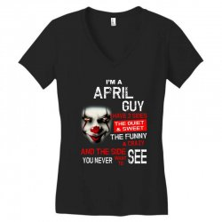 I'm a April  guy I have 3 sides Pennywise Women's V-Neck T-Shirt | Artistshot