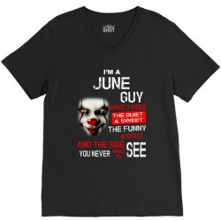 I'm a June guy I have 3 sides Pennywise V-Neck Tee | Artistshot