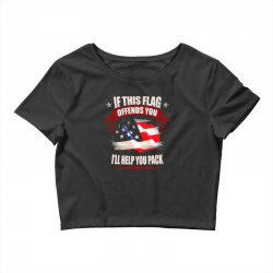 if this flag offends you i'll help you pack Crop Top | Artistshot