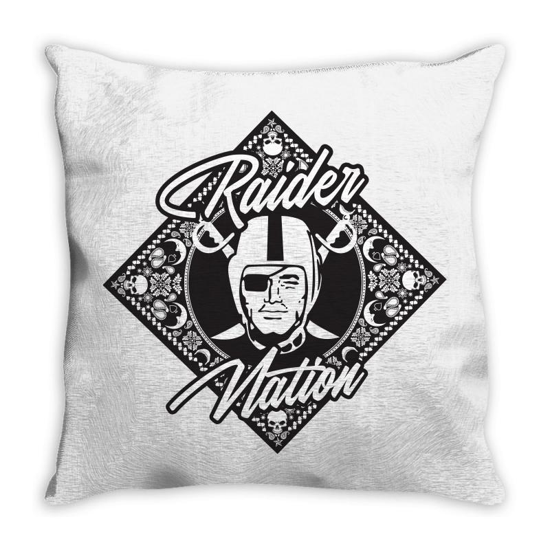 Raider Nation Bandana Throw Pillow | Artistshot