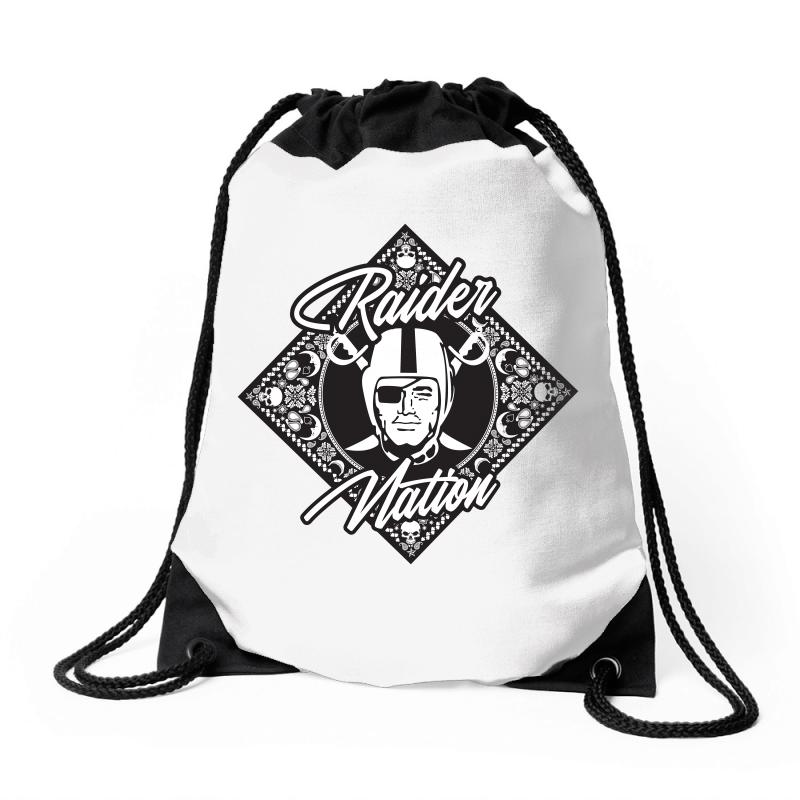 Raider Nation Bandana Drawstring Bags | Artistshot