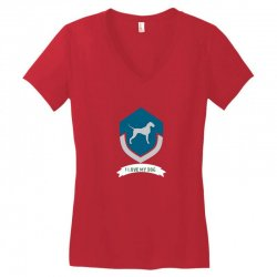 Love my dogs Women's V-Neck T-Shirt | Artistshot