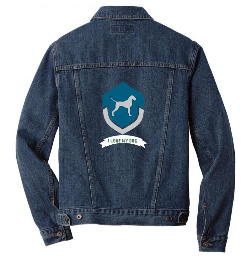 Love My Dogs Men Denim Jacket | Artistshot