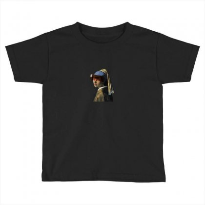 Mia With Pearl Earrings Toddler T-shirt Designed By Zeynepu