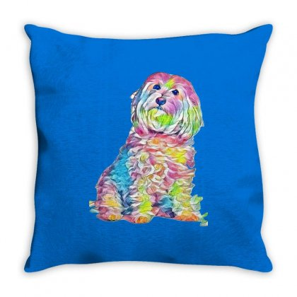 Foxtails In A Dog's Throat Throw Pillow Designed By Kemnabi