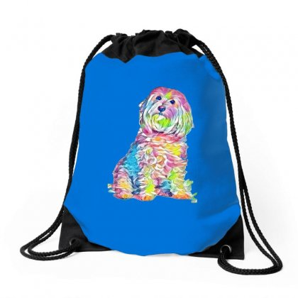 Foxtails In A Dog's Throat Drawstring Bags Designed By Kemnabi