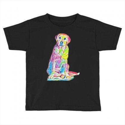 Labrador Retriever Fond Blanc Toddler T-shirt Designed By Kemnabi