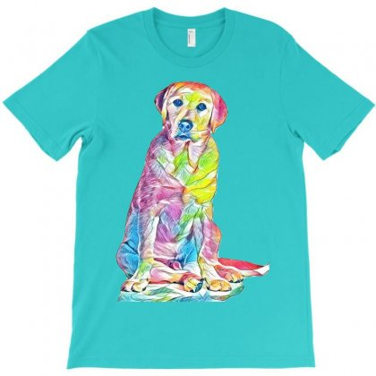 Labrador Retriever Fond Blanc T-shirt Designed By Kemnabi