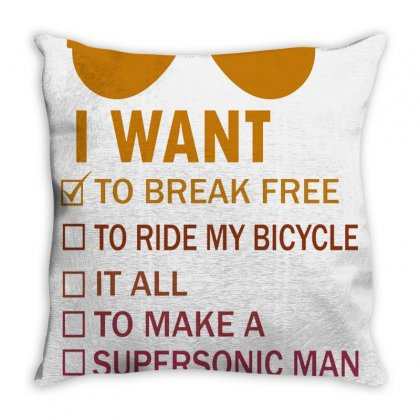 I Want To Break Free Retro Throw Pillow Designed By Irwansyahronie