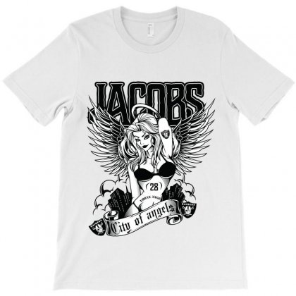 Josh Jacobs / City Of Angels T-shirt Designed By Tiococacola