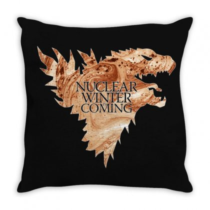 Nuclear Winter Is Coming Throw Pillow Designed By Gurkan