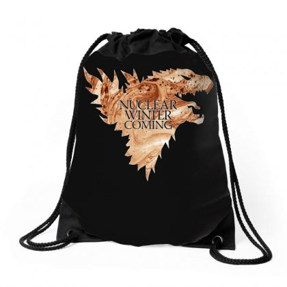 Nuclear Winter Is Coming Drawstring Bags Designed By Gurkan