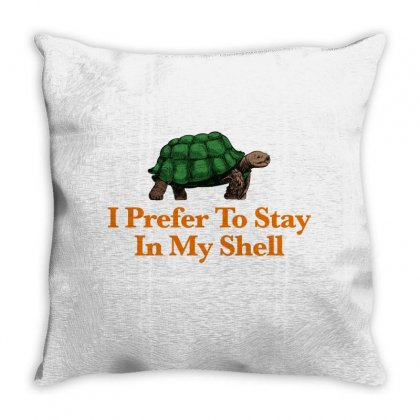 I Prefer To Stay In My Shell For Light Throw Pillow Designed By Hasret