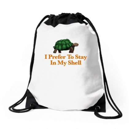 I Prefer To Stay In My Shell For Light Drawstring Bags Designed By Hasret
