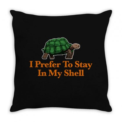 I Prefer To Stay In My Shell For Dark Throw Pillow Designed By Hasret