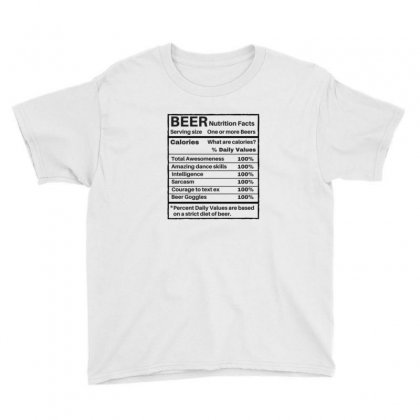Nutrition Facts Youth Tee Designed By Disgus_thing
