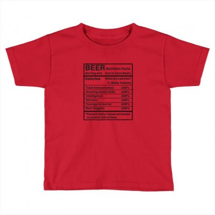 Nutrition Facts Toddler T-shirt Designed By Disgus_thing