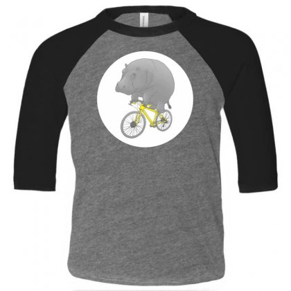 Dont Forget The Helmet Toddler 3/4 Sleeve Tee Designed By Specstore