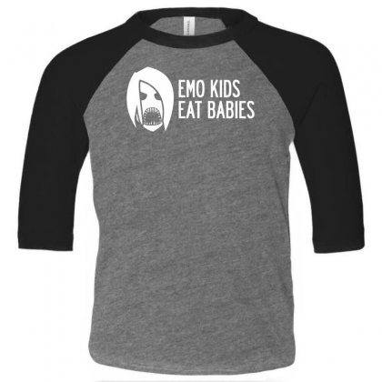 Emo Kids Eat Babies Toddler 3/4 Sleeve Tee Designed By Specstore