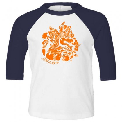 Ganesh Toddler 3/4 Sleeve Tee Designed By Specstore