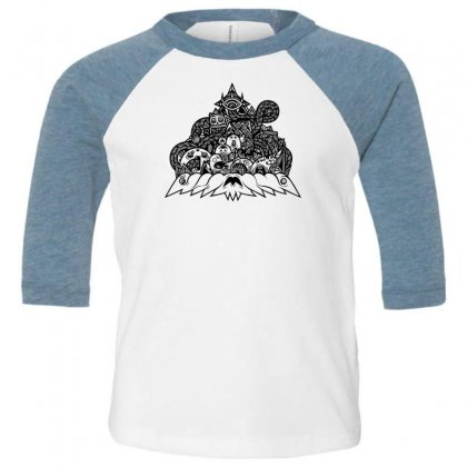Ilumination Doodle Toddler 3/4 Sleeve Tee Designed By Specstore
